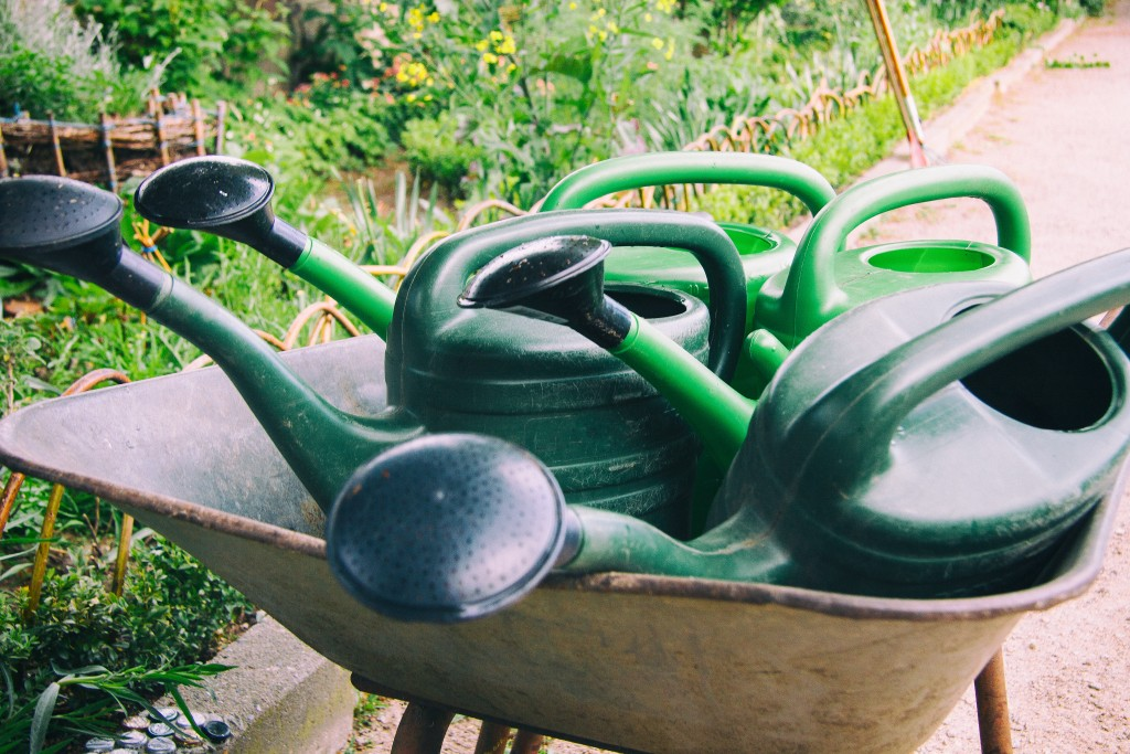 watering can outdoor storage space